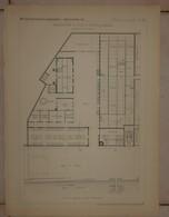 Plan D'une Manufacture De Draps à Gaulier Près De Sedan. M. Alponse Gosset, Architecte.1884. - Publieke Werken