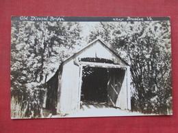 RPPC  Old Wood Covered Bridge Near Brandon  Vermont   Ref 3392 - United States