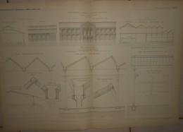 Plan D'une Manufacture De Draps à Gaulier Près De Sedan. M. Alponse Gosset, Architecte.1884. - Travaux Publics