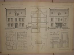 Plan D'une Maison D'habitation à Paris-Reuilly. 1884. - Travaux Publics