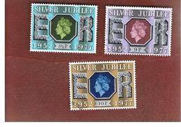 GRAN BRETAGNA (UNITED KINGDOM) -  SG 1033.1035 -  1977 SILVER JUBILEE    - USED° - 1952-.... (Elisabetta II)