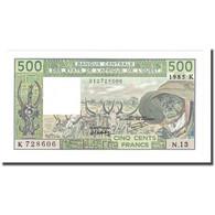 Billet, West African States, 500 Francs, 1985, KM:706Kh, NEUF - États D'Afrique De L'Ouest