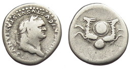 [H] +++ AR Denarius / Denier - TITVS For Divus VESPASIAN -- RIC 63 -- Capricorns - SCARCE Issue +++ - 2. Die Flavische Dynastie (69 / 96)