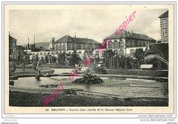 90. BELFORT . Square Jean Jaurès Et Le Nouvel Hopitl Civil . - Belfort - Ville