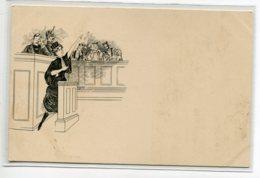 FEMINISME La Femme Avocat Plaidant Tribunal Justice Illustrateur 1900     D09 2019 - Autres