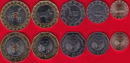 Mauritania Set Of 5 Coins: 1/5 - 20 Ouguiya 2017 UNC - Mauritanië