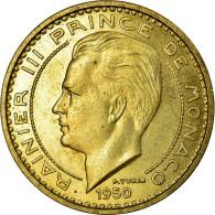Monnaie, Monaco, 50 Francs, 1950, SUP, Cupro-Aluminium, Gadoury:141, KM:E30 - Monaco