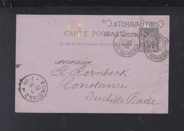 Frankreich France GSK 1888 Lyon Lochung Perfin Coint Bavarot & Cie - Postal Stamped Stationery