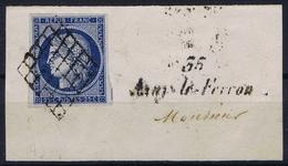 France Yv 4  Grille + -35- Azayle Ferron Cursive  32 Mm RR  Belles Marges - 1849-1850 Cérès