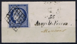 France Yv 4  Grille + -35- Azayle Ferron Cursive  32 Mm RR  Belles Marges - 1849-1850 Ceres