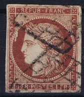 France Yv 6 Grill  Belles Marges Signed/ Signé/signiert/ Approvato  2x Brun  Small Service Scratch Left Side - 1849-1850 Cérès