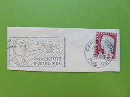 Flamme - Parachutiste D'Outre-Mer - Cachet Paris Rue Duc XVIIIème - Timbre YT N° 1263 (M. De Decaris) - 1960 - Postmark Collection (Covers)