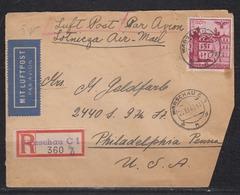 II.WK Generalgouvernement  Warschau 25.XI.40 R-LP-Brief Mit MiF 51,3x68 In Die USA Mit OKW-Zensur - Besetzungen 1938-45
