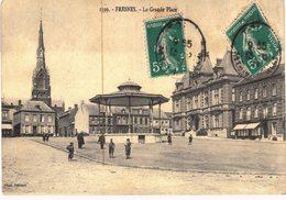 Carte Postale Ancienne De FRESNES - La Grande Place - France