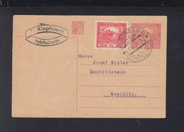 Czechoslovakia Stationery Krasna Lipa 1920 - Brieven En Documenten