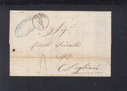 Lettera Cuneo 1855 - Lombardo-Veneto