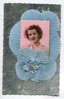 STE SAINTE CATHERINE 0065 Ajoutis Collages Portrait Jeune Fille Voiles Bleu Du Bonnet - Santa Caterina