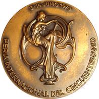 ESPAÑA. MEDALLA DE LA FERIA DE MUESTRAS DE BARCELONA. 1.970. CINCUENTENARIO. ESPAGNE. SPAIN MEDAL - Profesionales/De Sociedad