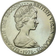 Monnaie, BRITISH VIRGIN ISLANDS, Elizabeth II, 50 Cents, 1976, Franklin Mint - Iles Vièrges Britanniques