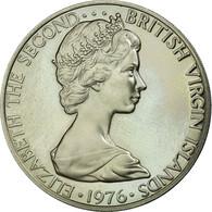 Monnaie, BRITISH VIRGIN ISLANDS, Elizabeth II, 50 Cents, 1976, Franklin Mint - Islas Vírgenes Británicas