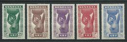 SENEGAL 1938 . Série N°s 144 à 148 . Neufs * (MH) - Senegal (1887-1944)