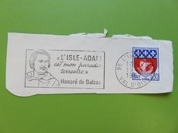 Flamme - Honoré De Balzac - L'Isle-Adam (Val D'Oise) - Timbre YT N° 1354B (Armoiries De Paris) - 1967 - Postmark Collection (Covers)