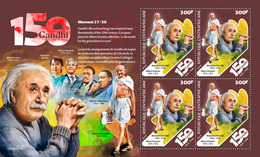 CENTRAL AFRICA 2019 - M. Gandhi, Martin Luther King M/S Official Issue - Martin Luther King