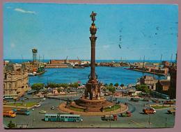 BARCELONA - MONUMENTO A COLON Y PUERTA DE LA PAZ - Auto, Cars, Bus - Vg S2 - Barcelona