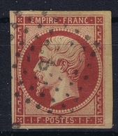 France Yv 18 Nice Borders   Small Plie/fold Right Bottom Corner  (Largeur 18,5 Mm  Original) - 1853-1860 Napoléon III