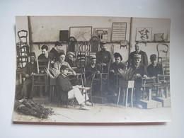 Photos De La Guerre 1914/1916 Hopital De La Persagotière 44 Nantes L'atelier De La Chaiserie Aveugles  TBE - Documents