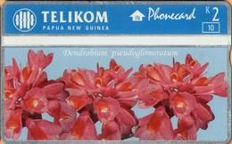 Papua New Guinea - PNG-058, Dendrobium Pseudoglomeratum, CN:512L, Flowers, Orchids, 10.000ex, 1996, Mint - Papua-Neuguinea