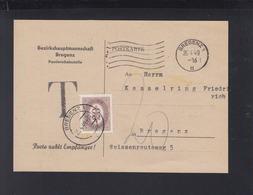 Österreich PK 1949 Bregenz Porto - 1945-60 Briefe U. Dokumente