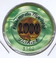 Casino Chip 1000 Francs CFA Casino Du Cap Vert Dakar Senègal - Casino