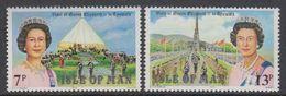 Isle Of Man 1979  Visit Queen Elizabeth 2v ** Mnh (42919F) - Man (Eiland)