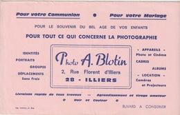BUVARD - ILLIERS - PHOTOGRAPHIE BLOTTIN - Sin Clasificación