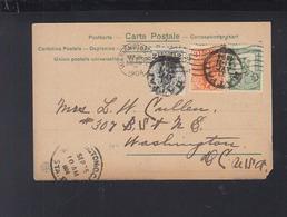 Greece PPC 1904 Patras To USA - 1901-02 Flying Mercury & AM