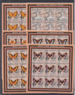 H916. 9x Mozambique - MNH - 2002 - Scouting - Butterflies - Full Sheet - Timbres