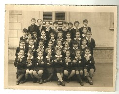 """4013 """"RICORDO SCOLASTICO-1946-1947 -  LUOGO SCONOSCIUTO"""" FOTO ORIG. - Persone Anonimi"""