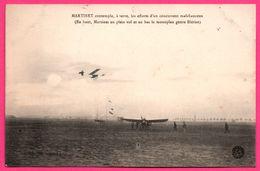 Martinet Contemple Les Efforts D'un Concurrent Malchanceux - Monoplan Genre Blériot - Aviateur Aviation - BAUER MARCHET - ....-1914: Vorläufer