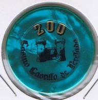 Casino Chip 200 Pesetas Casino Castillo De Perelada Espagna - Casino