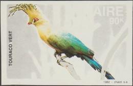 Zaïre 1982 COB 1172. Essai Sur Papier Ordinaire. Oiseaux Du Zaïre,  Touraco Vert (tauraco Persa), Musophagidae - Cuckoos & Turacos