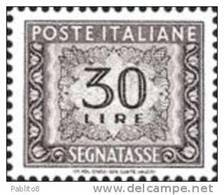 ITALIA REPUBBLICA ITALY REPUBLIC 1955 1981 1961 SEGNATASSE POSTAGE DUE TASSE TAXE LIRE 30 STELLE STARS MNH - Taxe