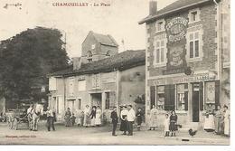 Ac8/      52   Chamouilley     La Place   Le Bureau De Tabac -marcerie Confectios -cartes Postales      (animations) - France