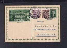 Czechoslovakia Stationery Luhacovice 1931 To London - Postal Stationery