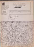 76    Plan  De La Police Barrierage  Rouen Armada Du Siecle  9-18 Juillet 1999 - Other Plans