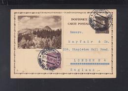 Czechoslovakia Stationery Tatra 1931 To London - Postal Stationery