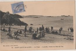 CPA 22 SAINT-JACUT-de-la-MER. La Plage - A Gauche, Pointe Du Chef-de-l'Ile - Saint-Jacut-de-la-Mer