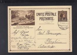 Luxemburg Bild-PK Mondorf 1936 Nach Pforzheim - Interi Postali