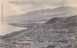 EVENEMENTS Catastrophes ( Eruption Volcanique Du 8 Mai 1902) MARTINIQUE St PIERRE : Vue Générale Des Ruines - CPA - Catastrophes