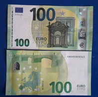 FRANCE 100 Euro 2019  UNC Draghi Letter EA Print Code E002 B1 - 100 Euro
